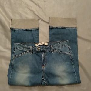 GAP low rise cropped jeans